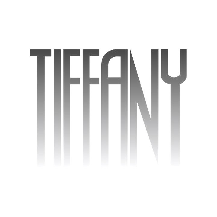 Tiffany Randig Glitter Stickad Modell, Röd