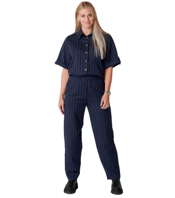 Tiffany Adele Pant, Blue/brown Pinstripe