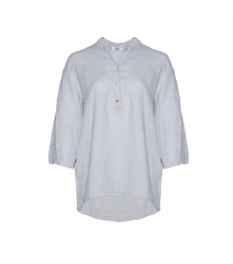 Front af skjorte i hør