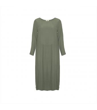Front af grøn lang kjole