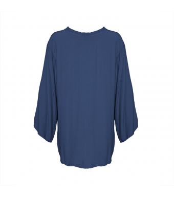 181098 Blus Viskos, Denim Blue