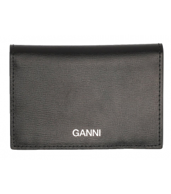 Ganni A2170 Cardkeeper Textured Leather, 099 Black