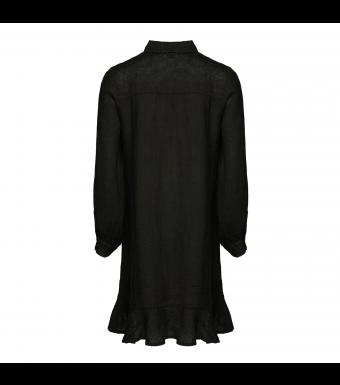 Tiffany Zoe Dress Linen, Black