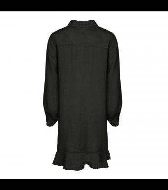 Tiffany Zoe Dress Linen, Dark Grey