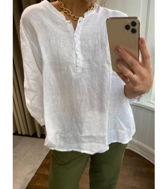Tiffany Ebbi Top Linen, White