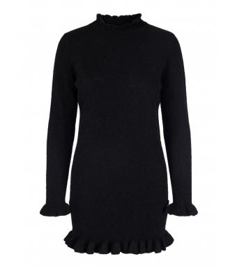 Ella & il Tahini Alpaca Dress, Black