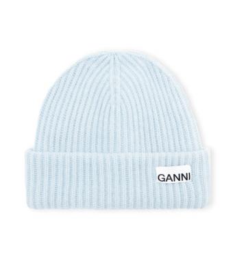 Ganni A3533 Hat Rib Knit Acc, Heather