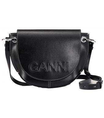 Ganni A3596 Shoulder Bag Banner, Black