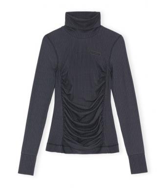 Ganni A3697 Roll Neck Rib Underwear, Phantom