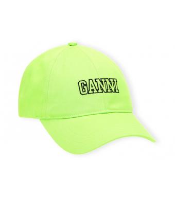 Ganni A3733 Cap Software Heavy Cotton, 783 Flash Green