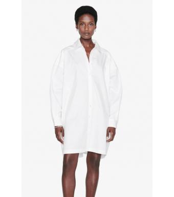 Anine Bing Skjortklänning A-02-1122-100, Vit
