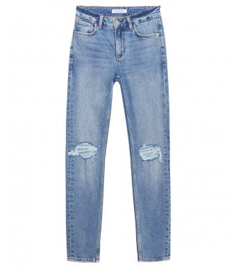 Anine Bing Gabe Jeans, Destructed Light Indigo