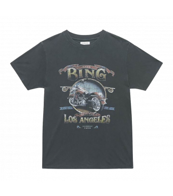 Anine Bing Lili Tee Biker A-08-2140-004a, Washed Black