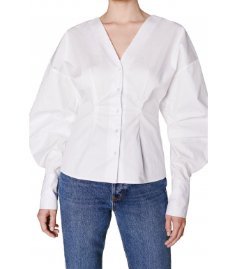 Anine Bing Lindsey Top A-07-2178, White