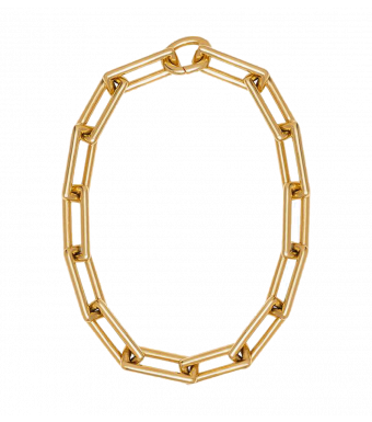 Anine Bing Chunky Link Necklace A-15-0198, Gold