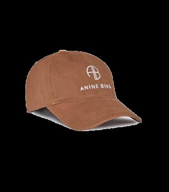 Anine Bing Jeremy Baseball Cap S-12-9084, Dark Camel