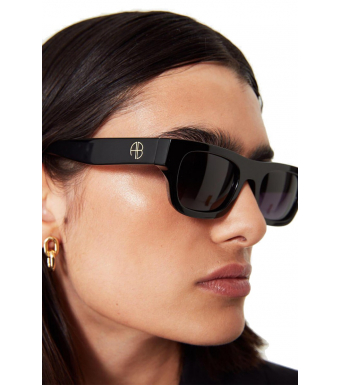 Anine Bing Otis Sunglasses, Black