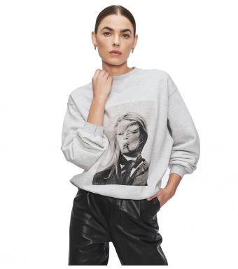 Anine Bing Ramona Sweatshirt, Heather Grå