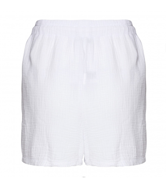Tiffany Luna Shorts Double Cotton, White