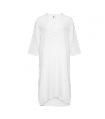 Tiffany 18970 Shirt Dress Double Cotton, White