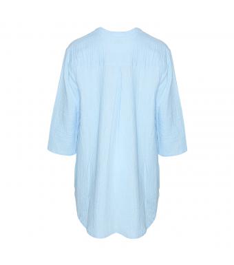 Tiffany Skjorta 17661 Double Cotton Ljusblå