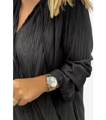Noella Cassey Pleat Dress Polyester, Black