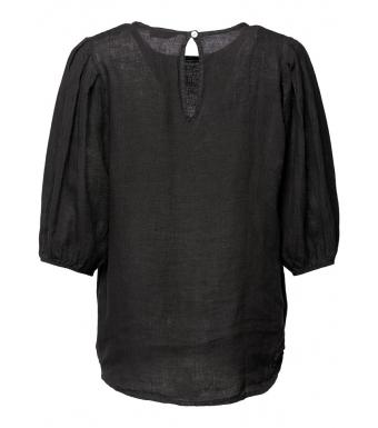 Tiffany Clara Blouse Linen, Black