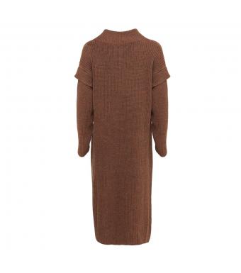 Tiffany Voka Long Cardigan Knit, Brown