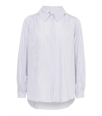 Tiffany Celia Crinkle Shirt Cotton Poplin, Camel/blue