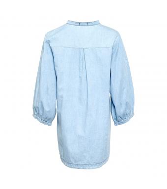Tiffany Ella Bell Skjorta, Ljusblå Denim