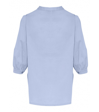 Tiffany Skjorta 00320 Ebb Cotton Poplin Ljusblå