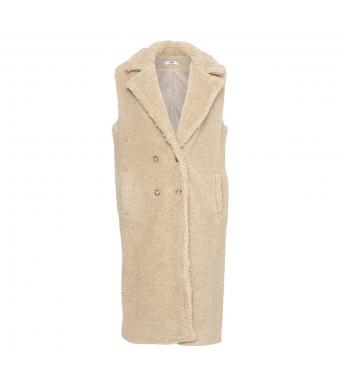 Tiffany Ferd Waistcoat Teddy Fur, Light Natur