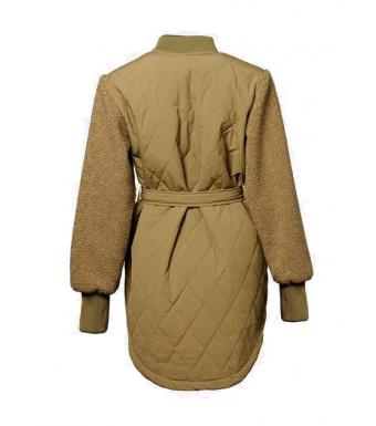 Noella Esme Pile Jacket Solid, Light Army