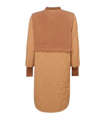 Noella Etta Pile Coat Solid, Camel