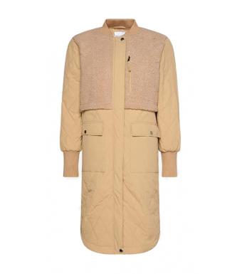 Noella Etta Pile Coat Solid, Sand