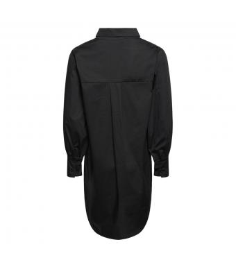 Tiffany Ella Crinkle Shirt Cotton Poplin, Black