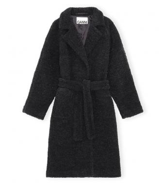 Ganni F6258 Coat Boucle Wool, 252 Phantom