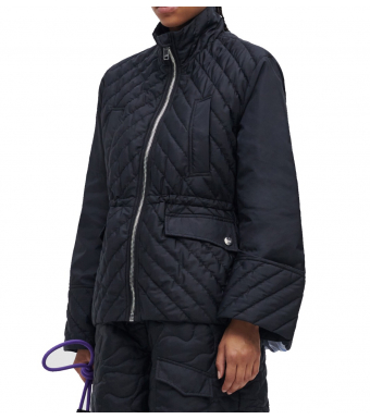 Ganni F6453 Jacket Recycled Ripstop, 099 Black