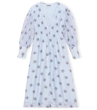 Ganni F6457 Dress Organza, 694 Heather