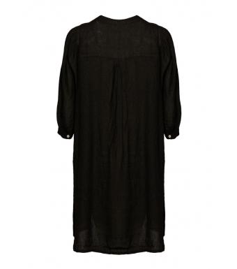 Tiffany Ebbi Short Dress Linen, Black