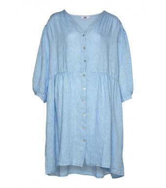 Tiffany Clara V-dress Linen, Light Blue