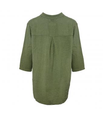 Tiffany Skjorta 17661 Double Cotton Armégrön