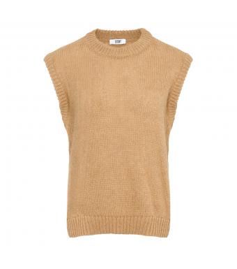 Tiffany Cathy Slipover Knit, Light Camel