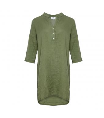 Tiffany 17690 Bomuldsskjorte Army Forfra