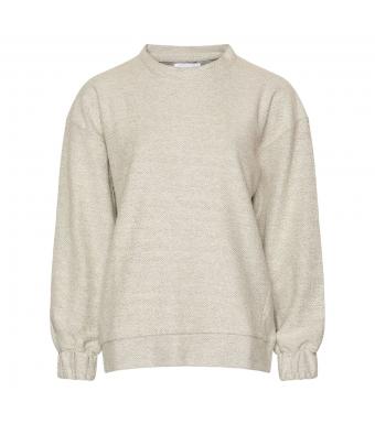 Tiffany Nilli Jumper Sweat Organic Cotton, Grey Melange