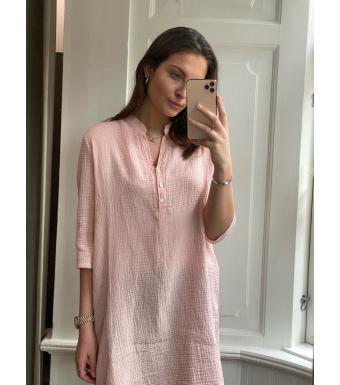 Tiffany Skjortklänning 17690 Double Cotton Rose