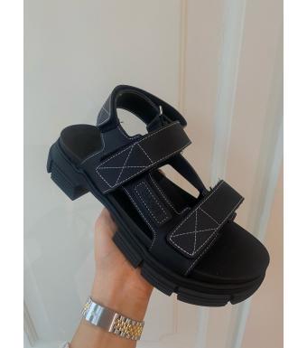 Ganni S1555 Rubber Sandal Recycled Rubber, 099 Black