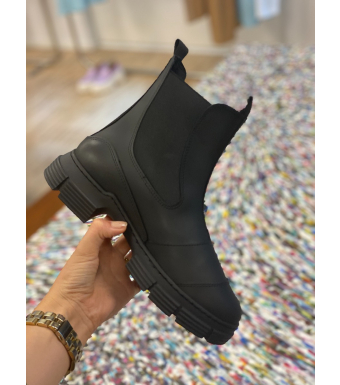 S1221 City Boot Recycled Rubber, 099 Black