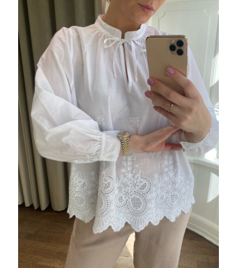 Tiffany Sibil Blouse Soft Cotton, White