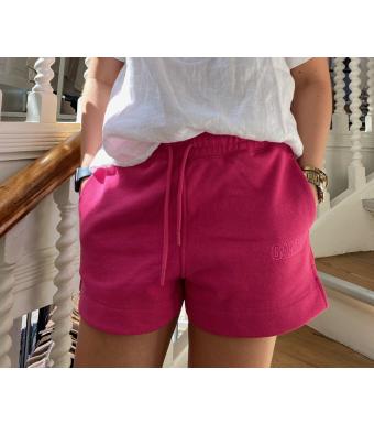 Ganni T2913 Drawstring Shorts Software Isoli, 483 Shocking Pink